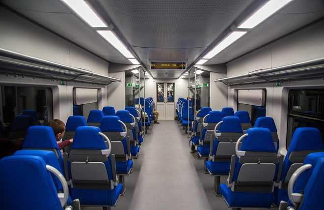 Фото поезда Ласточка внутри вагона